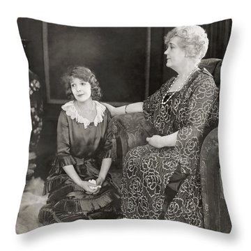 Silent Film Still: Women Throw Pillow by Granger