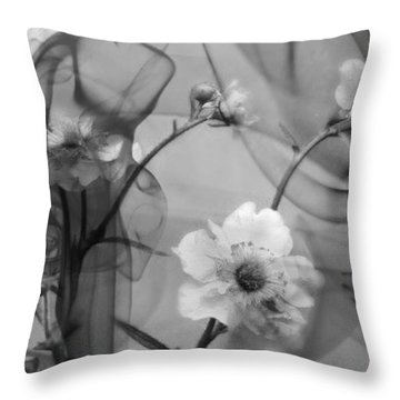 Silent Grief Throw Pillow