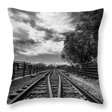 Silent Spur Throw Pillow by Tom Gort