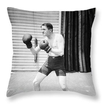 Silent Still: Boxer Throw Pillow by Granger