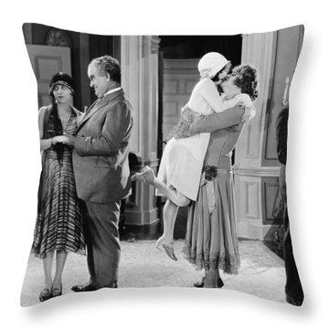Silent Still: Man In Drag Throw Pillow by Granger