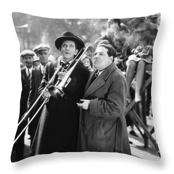 Silent Still: Musicians Throw Pillow