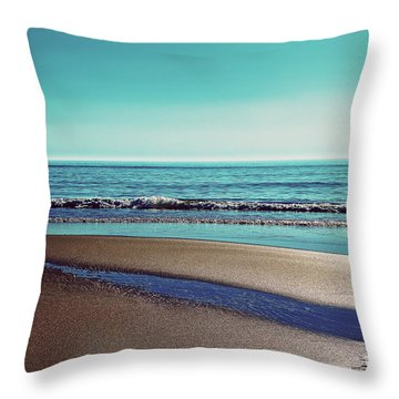Silent Sylt - Vintage Throw Pillow by Hannes Cmarits
