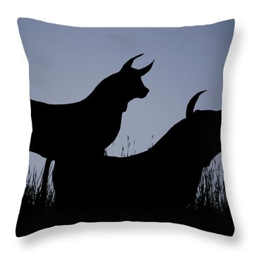 Silhouette Throw Pillow by Lisa Plymell