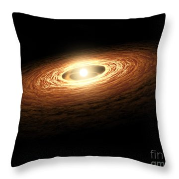 Silicate Crystal Formation In The Disk Throw Pillow by Stocktrek Images
