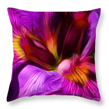 Silk And Satin Throw Pillow by Judi Bagwell