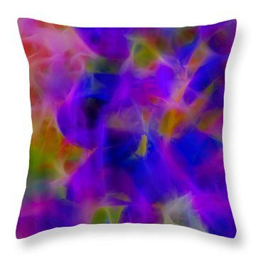 Silk In The Garden Throw Pillow by Judi Bagwell