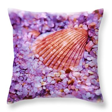 Silver Bells And Cockle Shells . . . Throw Pillow by Judi Bagwell