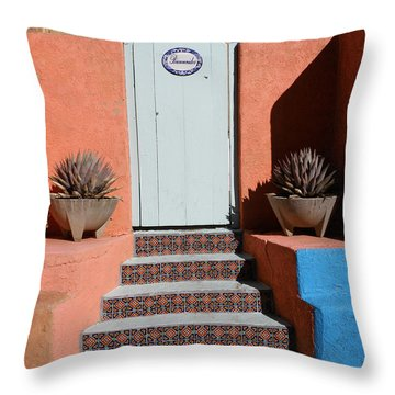 Silver City Doorway Throw Pillow by FeVa  Fotos