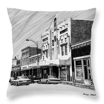 Silver City New Mexico Throw Pillow by Jack Pumphrey