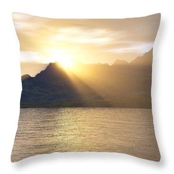 Silver Lake Throw Pillow by Mark Greenberg