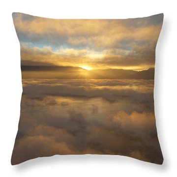 Silver Lake Sunrise Throw Pillow