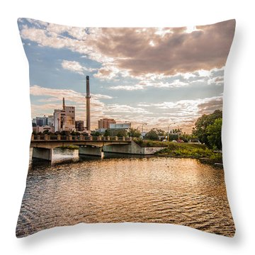 Throw Pillow featuring the photograph Silver Lake by Tom Gort