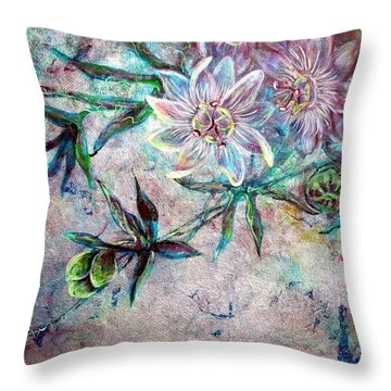 Silver Passions Throw Pillow