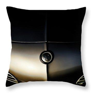 Silver Shadow Throw Pillow