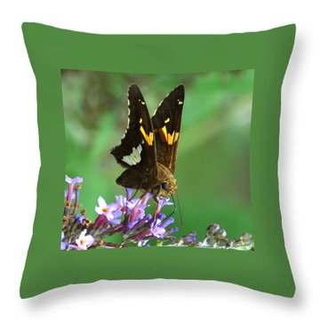 Silver Skipper Throw Pillow