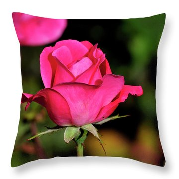 Simple Red Rose Throw Pillow