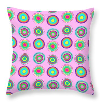 Simple Spots Throw Pillow by Louisa Knight