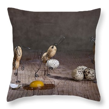 Eggs Throw Pillows