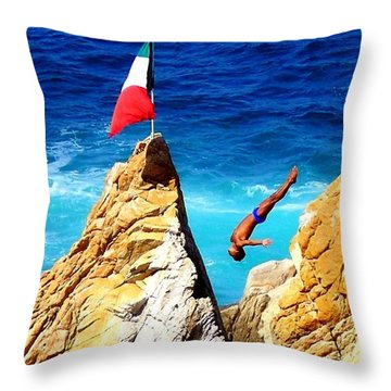 Simply Mexico Throw Pillow by Karen Wiles