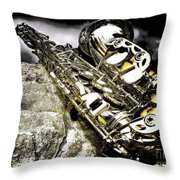 Simply Sax Throw Pillow