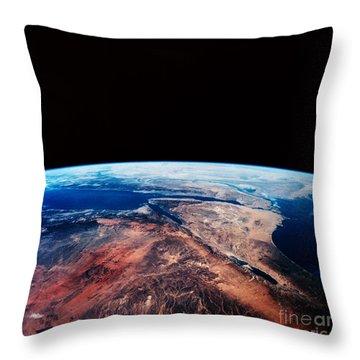 Sinai Peninsula Throw Pillow by Nasa