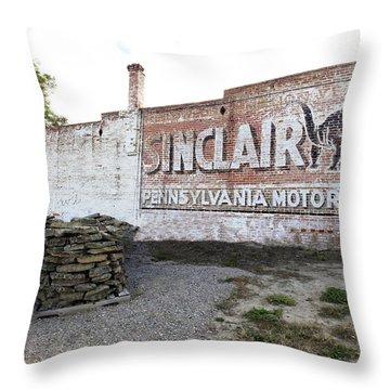 Sinclair Motor Oil Throw Pillow