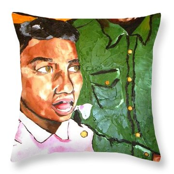 Singing Lessons Throw Pillow by Patrick Ficklin