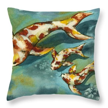 Throw Pillow featuring the painting Single Parenting by Lynn Babineau