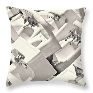 Sinking Throw Pillow by Patrick M Lynch