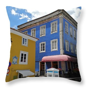 Sintra Portugal Buildings Throw Pillow by Kirsten Giving