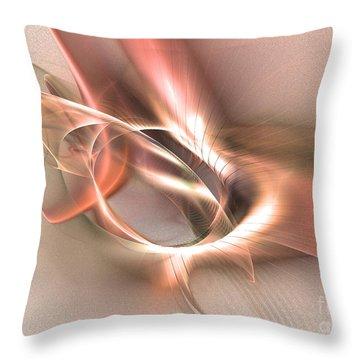 Sinuhe - Abstract Art Throw Pillow