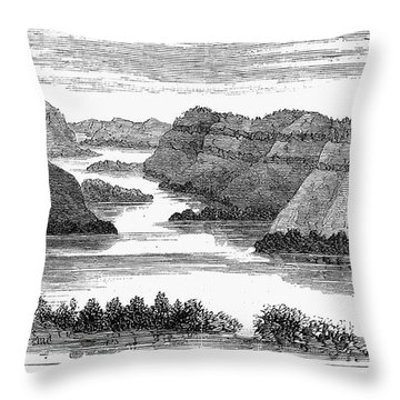 Sioux: Rosebud River Throw Pillow by Granger