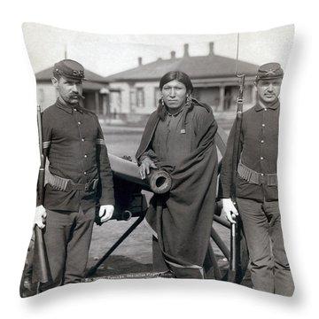 Sioux Warrior, 1891 Throw Pillow by Granger