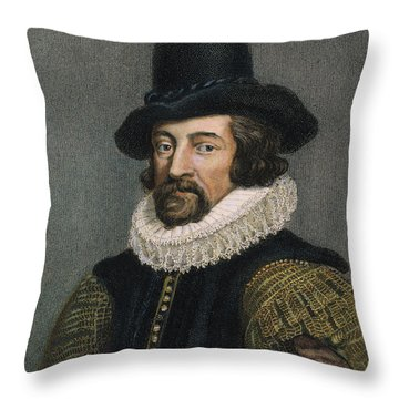 Sir Francis Bacon (1561-1626) Throw Pillow by Granger