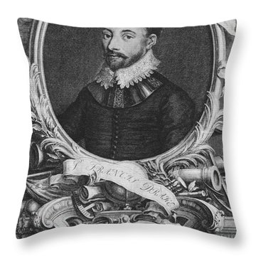 Sir Francis Drake, English Explorer Throw Pillow by Photo Researchers, Inc.