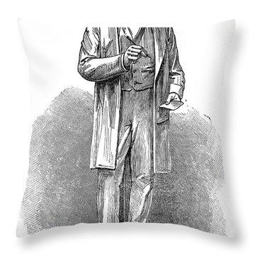 Sir Rowland Hill (1795-1879) Throw Pillow by Granger