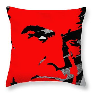 Sir Sean Connery Throw Pillow by Robert Margetts