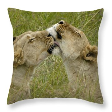 Sisterly Love Throw Pillow by Michele Burgess