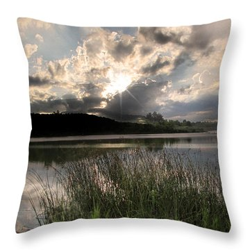 Throw Pillow featuring the photograph Sit Back...relax by Cindy Haggerty