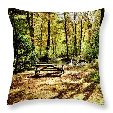 Sit. Throw Pillow by Joanne Brown