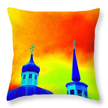 Sitka Russian Orthodox 8 Throw Pillow by Randall Weidner