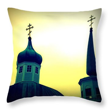 Sitka Russian Orthodox 9 Throw Pillow by Randall Weidner