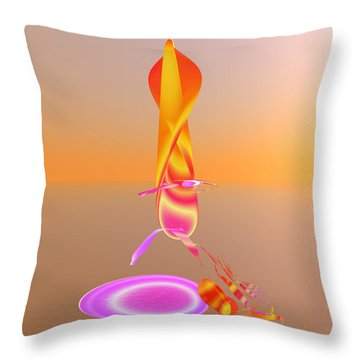 Sitting By The Fire Throw Pillow by Betsy Knapp