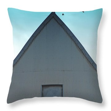 Throw Pillow featuring the photograph Sitting On The Peak by Kathleen Grace