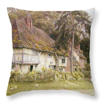 Six Bells Hollingbourne Kent  Throw Pillow by Helen Allingham