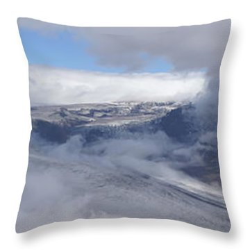 Throw Pillow featuring the photograph Skaftafell Panorama by Rudi Prott