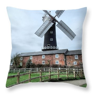 Skidby Windmill Throw Pillow