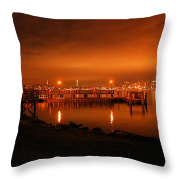 Skies On Fire Throw Pillow