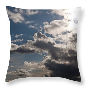 Skies Over Puget Sound Throw Pillow
